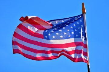 Flagge der USA im Wind