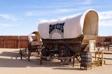 Bild eines Wagons aus dem wilden Westen